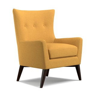 angelo:HOME Kristy Mustard Yellow Linen Arm Chair