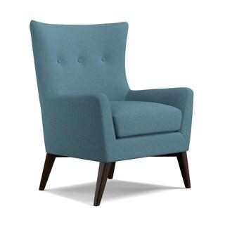 angelo:HOME Kristy Midnight Paris Sky Blue Linen Arm Chair