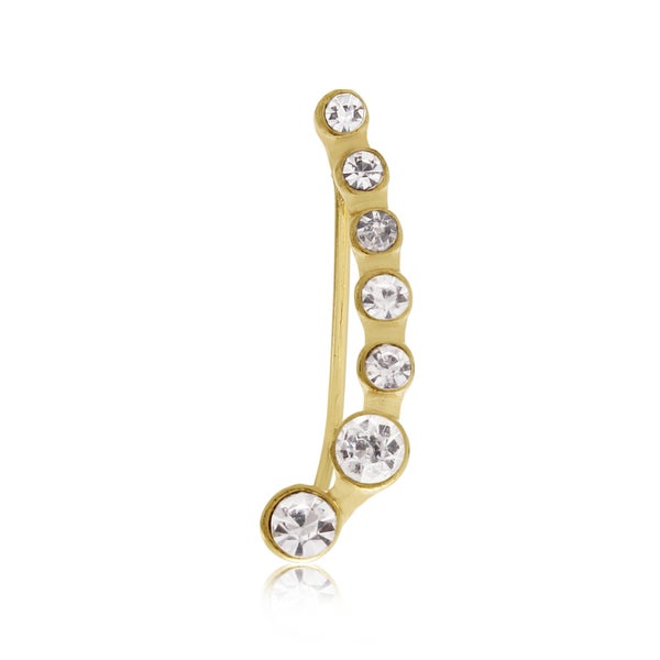Adoriana Gold Crystal Ear Pin Crawler