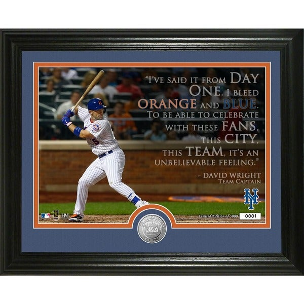 """David Wright """"Quote"""" Silver Coin Photo Mint"""