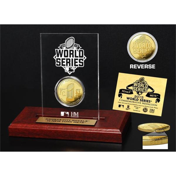 2015 World Series Dueling Gold Coin Etched Display