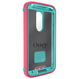 OtterBox 77-50233 Defender Series for MOTO X 2nd Generation -Rose(Teal/Pink)