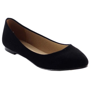 Beston BA42 Women's Basic Round Toe Slip On Ballet Flats