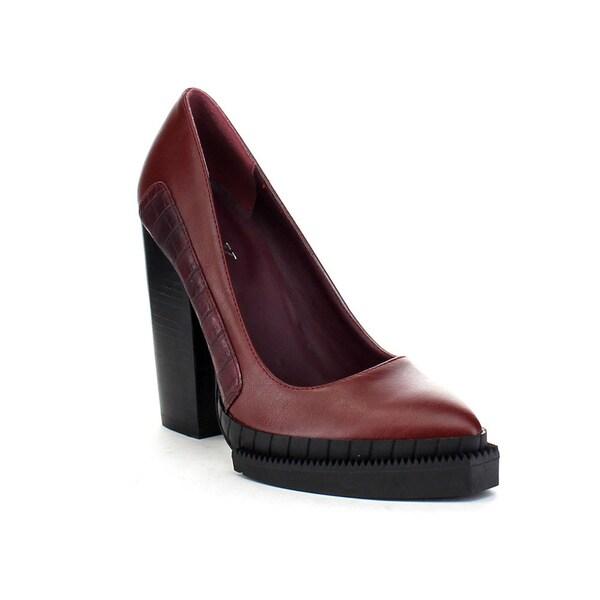 LandK ROXANNA-04 Women's Faux Crocodile Pattern High Stacked Heel Dress Pumps