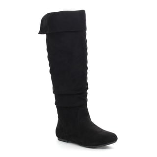 DA VICCINO TOP-01 Women's Slouch Size Zipper Flat Knee High Boots