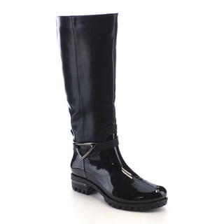 Beston AA74 Women's Side zipper Soft Waterproof Under The Knee High Rain Boots
