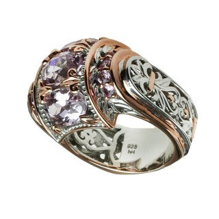 Michael Valitutti Kunzite & Pink Tourmaline Ring