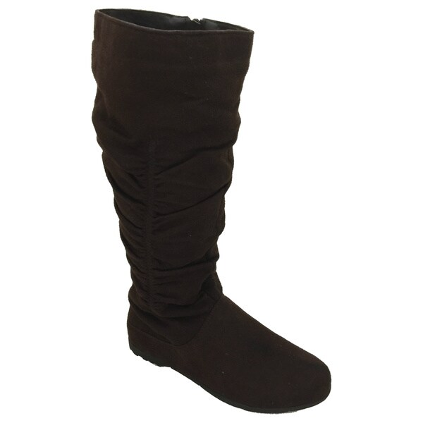 Nichole Simpson Women's Suede Knee-High Slouch Boots