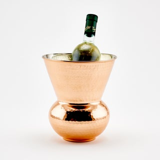 Hammered Solid Copper Hourglass Cooler, 3.25 Qt.