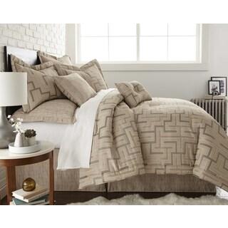 Austin Horn EnVogue Maze Quartz Beige 4-piece Comforter Set