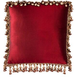 Austin Horn Classics Valentin Red Silk 18-inch Throw Pillow