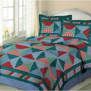 Plaid Patchwork Quilt Mini Set