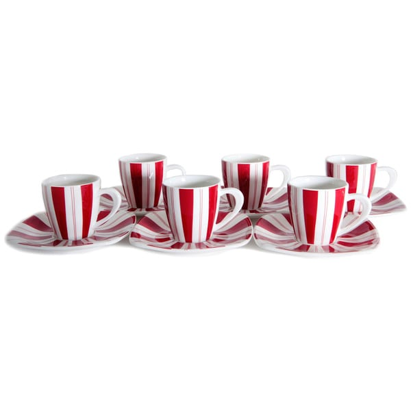 Tuxedo Rouge 3-ounce Tea Cup and Saucer (Set of 6) 16516430