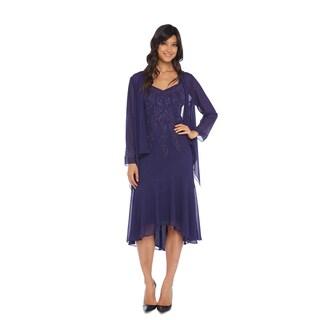 R&M Richards Purple Hi Lo Jacket Dress