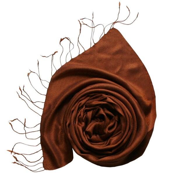 Bronze Kashmiri Silk Scarf