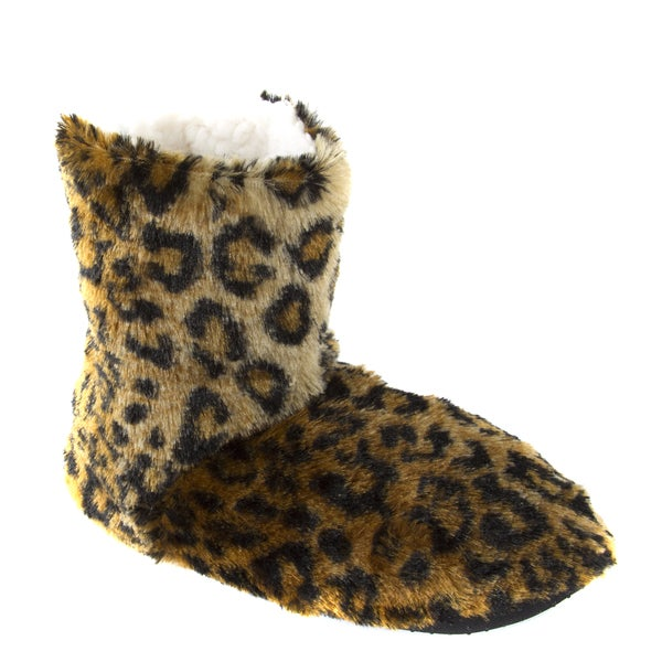 Leisureland Women's Fleece Lined Animal Cozy Bootie Slippers