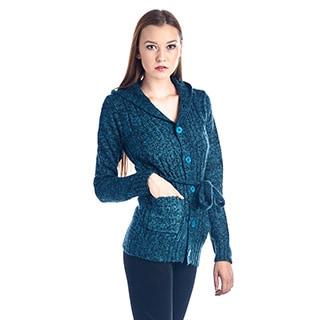Women's Cozy Blue Cotton Down Sweater