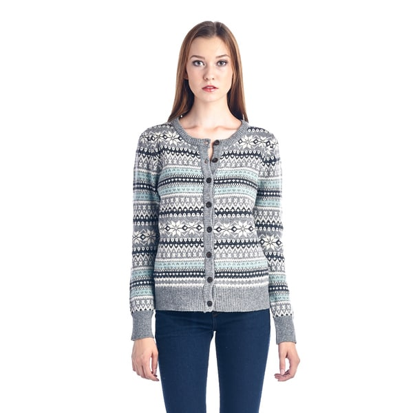 Women's Grey Fairisle Sweater