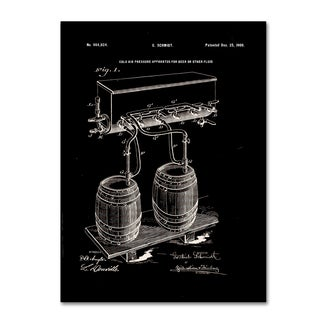 Claire Doherty 'Art Of Brewing Beer Patent Black' Canvas Wall Art