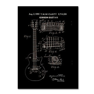 Claire Doherty '1955 Mccarty Gibson Guitar Patent Black' Canvas Wall Art