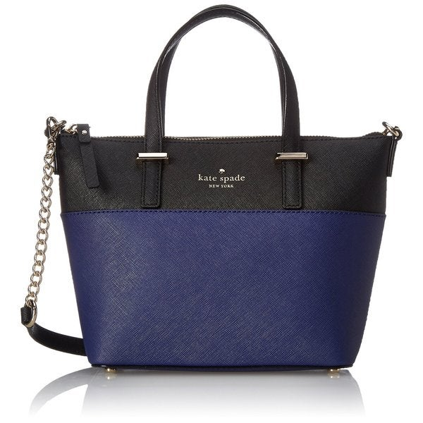 Kate Spade New York Indigo/ Black 'Cedar Street Harmony' Saffiano Leather Crossbody Handbag