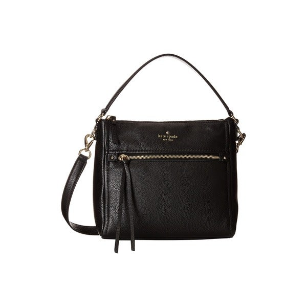 Kate Spade Leather Black Small Harris Satchel