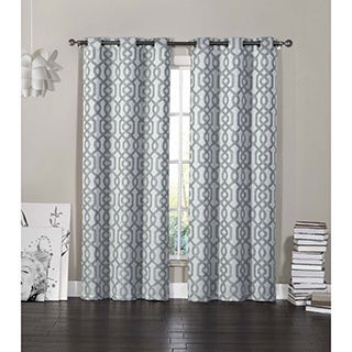 VCNY Madrid Grommet Top Curtain 84-Inch Panel Pair