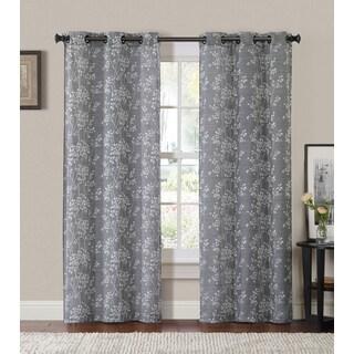 VCNY Oakland Poly/Linen Grommet Curtain Panel Pair