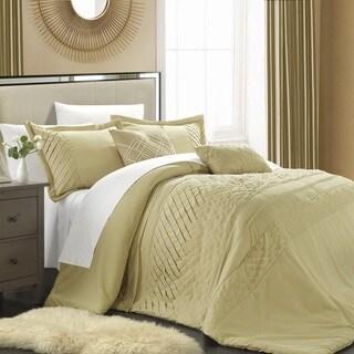 Chic Home Corona Champagne 5-piece Comforter Set with Handwork Pleats
