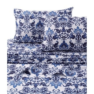 Catalina Cotton Percale Printed Extra Deep Pocket Bed Sheet Set