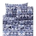 Catalina Printed Egyptian Cotton Percale Extra Deep Pocket Sheet Set
