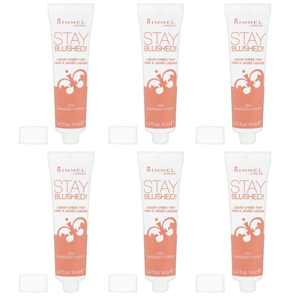 Sunkissed Cherry Stay Blushed Liquid Cheek Tint 004 (Pack of 6)