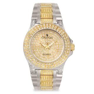 Croton Men's CN307538TTPV Stainless Steel Two-tone Crystal Bracelet Watch