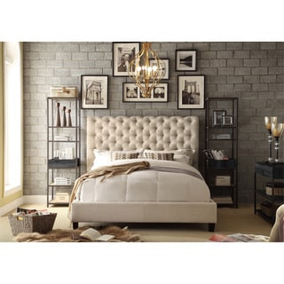 Moser Bay Furniture Calia Tufted Upholstered Platform Bed