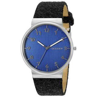 Skagen Men's SKW6232 'Ancher Felt' Black Leather Watch