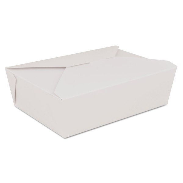 SCT ChampPak Retro White Paperboard Carryout Boxes (Pack of 200)
