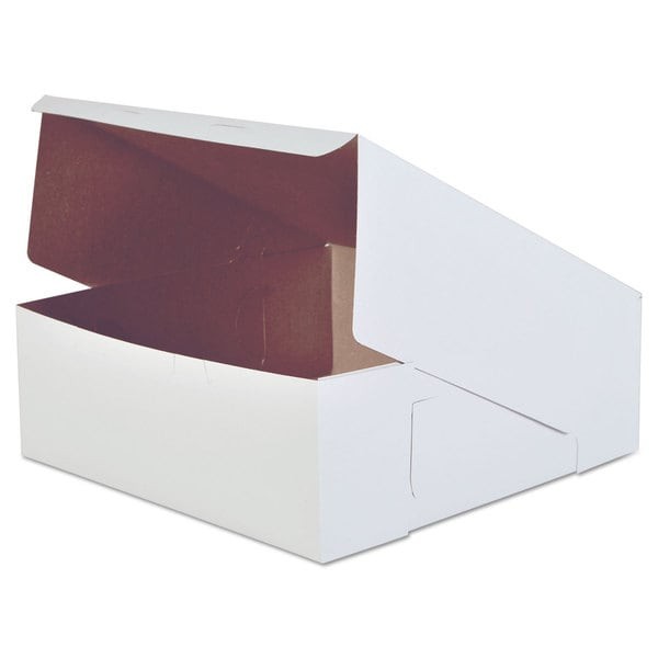 SCT White Paperboard Bakery Boxes (Pack of 50)