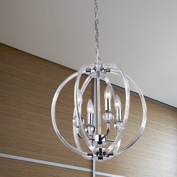 griselda contemporary chrome finish orb chandelier 17763711