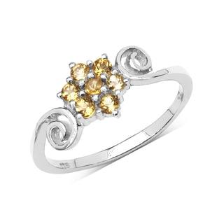 Olivia Leone Sterling Silver 3/8ct Citrine Ring