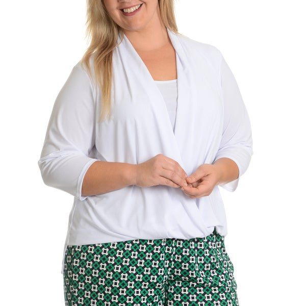 Sunny Leigh Woman Plus Size Wrap Front Top