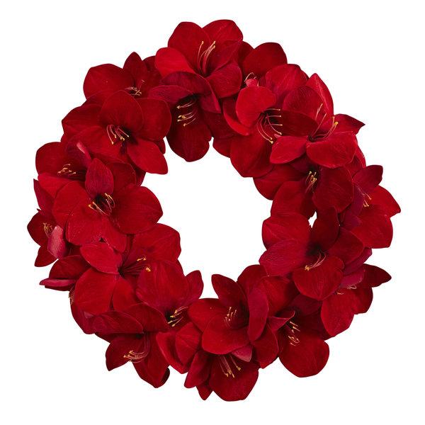 22-inch Amaryllis Wreath