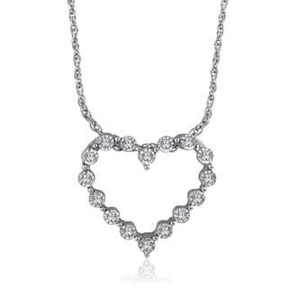 Sterling Silver 16ct Diamond Heart Pendant (H-I, I2-I3)