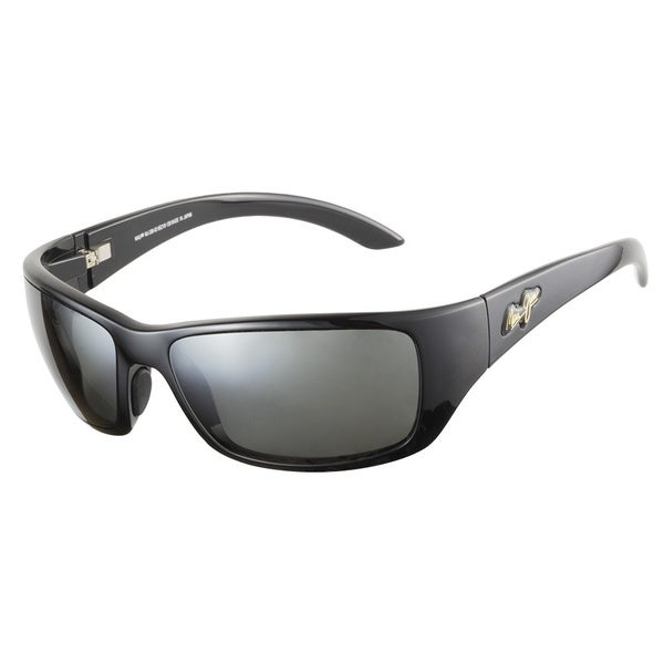 Maui Jim 208-02 Polarized Neutral Grey Lenses Gloss Black Frame Sunglasses