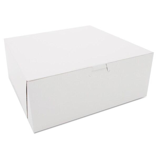 SCT White Kraft Bakery Boxes (Box of 100)