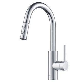 Kraus KPF-2620 Oletto 1-Handle Pulldown Kitchen Faucet w/ Dispenser