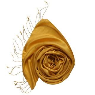Gold Kashmiri Silk Scarf