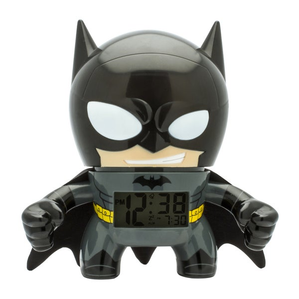BulbBotz DC Comics Super Heroes Kid's Light Up Batman Clock