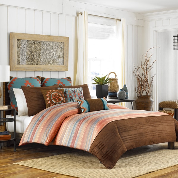 Croscill Home Ventura Brown Geometric Duvet Cover