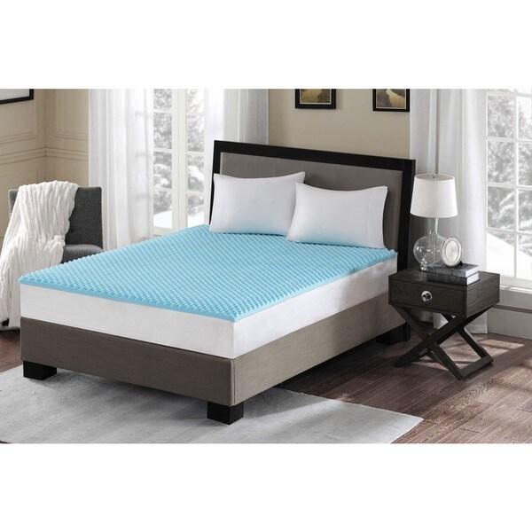 Flexapedic by Sleep Philosophy Convoluted 1.5-inch Gel Memory Foam Topper