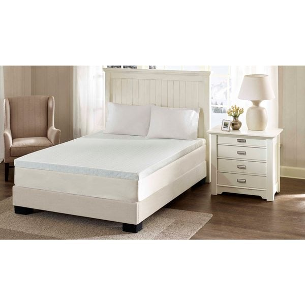 Flexapedic by Sleep Philosophy 3-Inch Memory Foam Mattress Topper